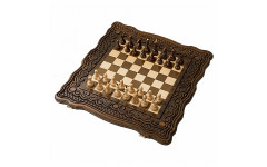 Шахматы + нарды резные Бриз 40 Haleyan