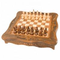 Шахматы резные в ларце 50 Haleyan