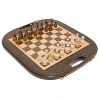 Шахматы + нарды резные Овальные 40 Haleyan