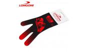Перчатка Renzline Billiard Player Velcro черная/красная