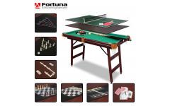 Стол для бильярда Fortuna Пул 4фт 9 в 1 с комплектом аксессуаров