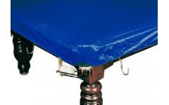 Покрывало для стола 10 ф (влагостойкое, темно-синее, резинки на лузах)